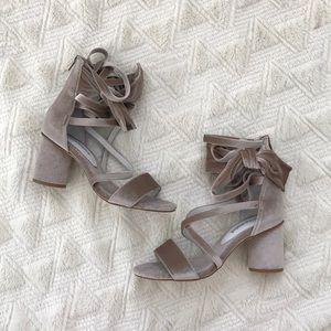 Bnwot Jeffrey Campbell velvet sandals